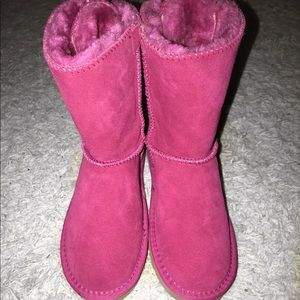 Bailey bow hot pink uggs